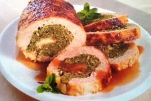 Polpettone con spinaci