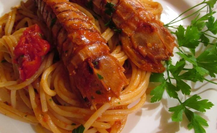 Spaghettoni con sparnocchie