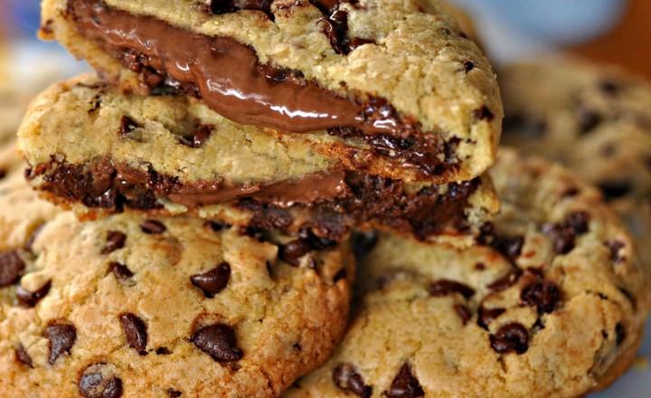 Cookie ripieni di nutella
