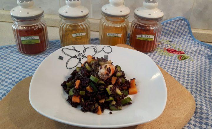 VideoRicetta: Riso venere zucchine e gamberetti